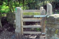 "The new Wooden Kissing Gate, ""In Memory of Cyril Bean ..."", entering Meriden Church Yard from the north : 16-May-2013 : photo Peter Page"