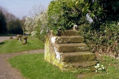 Mounting Steps, outside Meriden Church : Spring-2000 : photo Duncan Bean