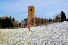 Approaching Bubbenhall Church : 29-Nov-2005 : photo Peter Page