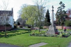 War Memorial, Wolston : Spring-2000 : photo Duncan Bean