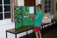 06:33 : Meriden Village Hall : Bob Brandon updating the display board