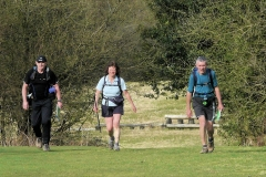 """ACW Challenge : 5-Apr-2009 : Leaving the """"horse-jump-field"""" south of Meriden Shafts"""