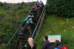 "06:02 : The ""Traditional"" start up the steps, not seen since before we moved the start to the Village Hall"