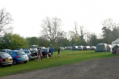 07:33 : The spacious car park filling up - but still plenty of space for all