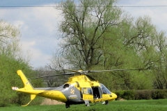 10:47 : The Warwickshire Air Ambulance, near Marston Mill. Photo - Chris Boden