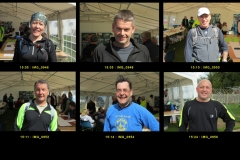 15:05 to 15:25 : Some of the early finishers, page 2 of 4 - portraits by Roger Brown.