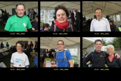 15:28 to 15:41 : Some of the early finishers, page 3 of 4 - portraits by Roger Brown.