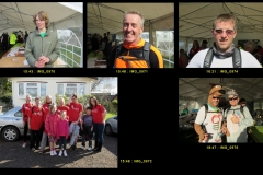 Some of the early finishers (plus 2 somewhat later!). Portraits by Roger Brown.