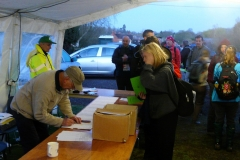 05:56 : Queuing to check in, with Bob C using his fast writing pen & paper and Bob B shouting out the time ...