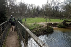 nearly to Stareton - Footbridge over River Avon