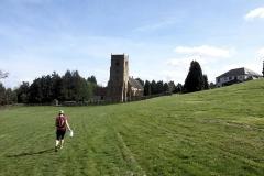 Approaching Bubbenhall Church