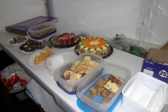 c.18:40 : Food at the Finish : Marquee at Queen's Head, Meriden