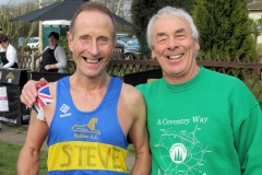 16:28 :  Steve Colbourne being presented with his 400 mile T-Shirt