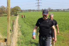 """14:13 : Approaching the stile (maybe a gap) not much before CP6.  This year we have two pipes covering """"Electric Wires"""", one blue one black."""